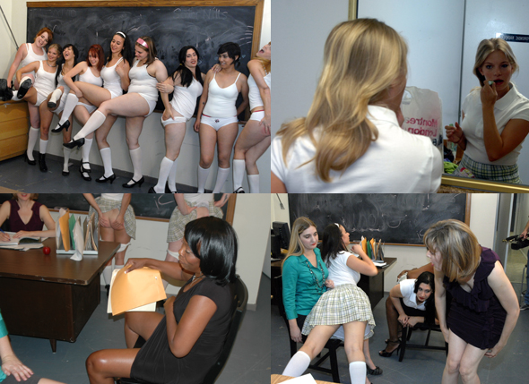 Spanked Schoolgirls