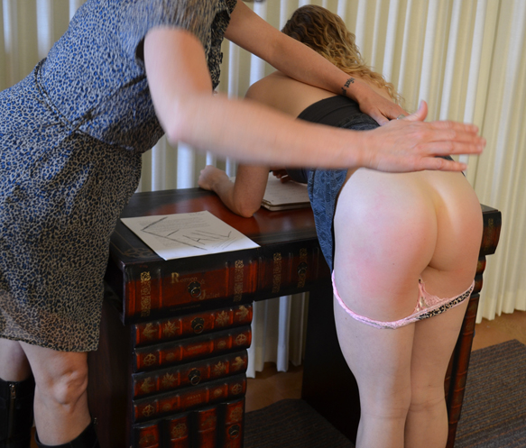 Fiona insisted this was a great spanking position. Agreed.