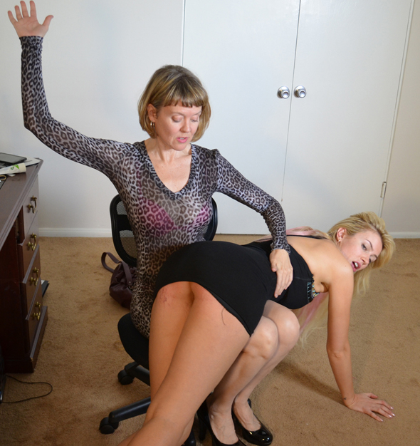 Clare returns to Spanked Call Girls site with Gigi Allens