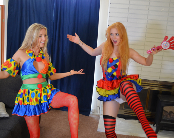 Karla Kush and Veronica make excellent clowns