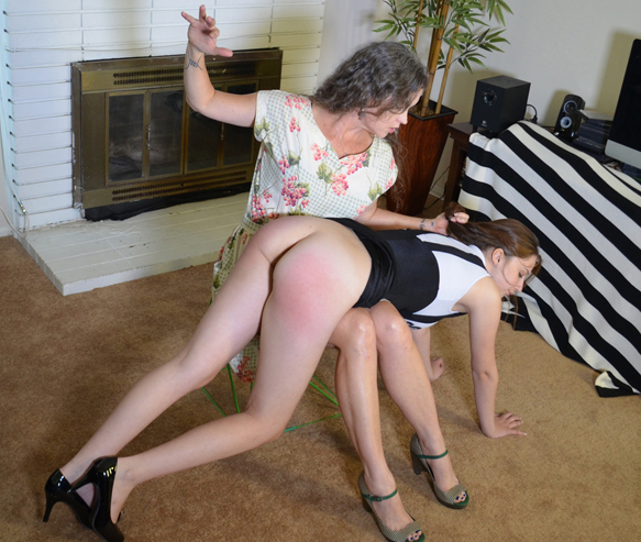 Fiona teaches her naughty daughter a lesson
