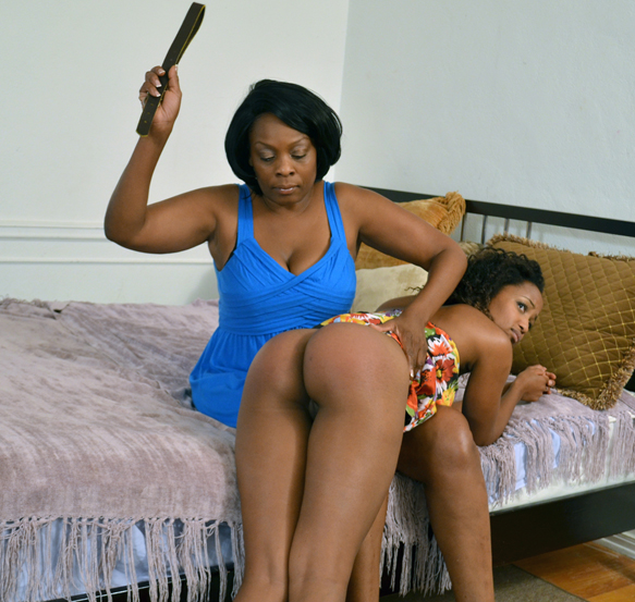 Ivy was spanked with a belt by mom for being naughty