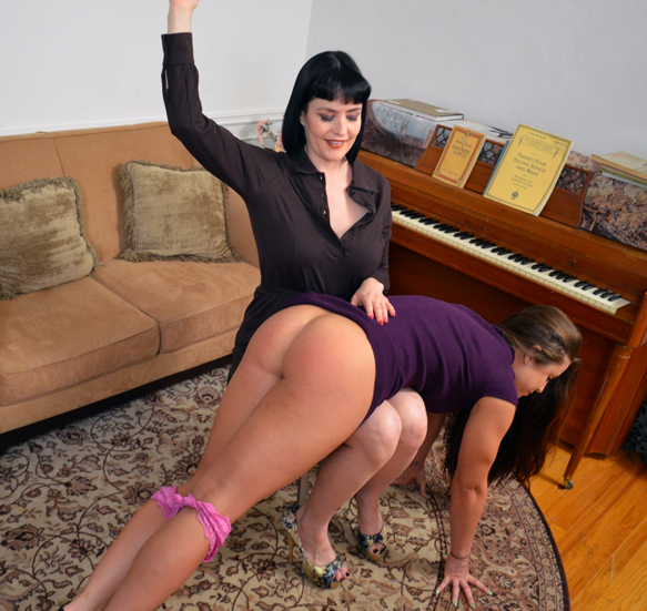 Snow looks happy spanking Madison. Who wouldn't?