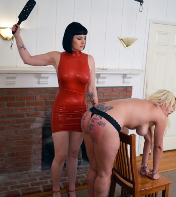 Bella gets punished severely by the Top Domme