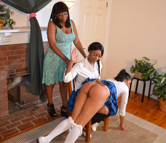 Yasmine had to cut during this spanking