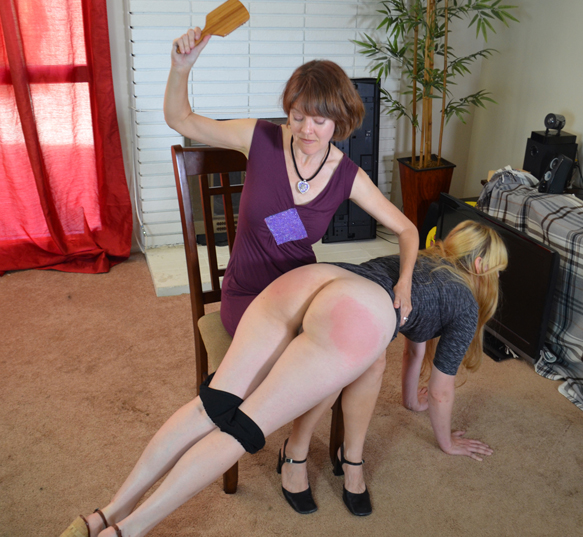 Clare spanks Harley Havik for Spanked Sweeties